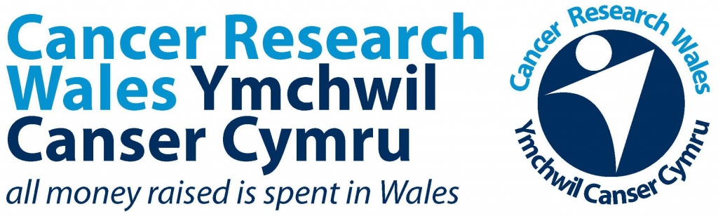 Cancer Research Wales Wording & Logo